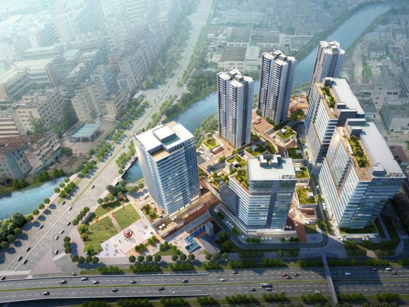 东莞凤岗火爆出租总面积60000平方独栋总部楼,工业4.0大厦,人才宿舍,商业配套